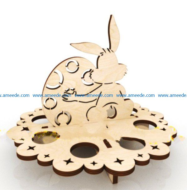Stand with a hare file cdr and dxf free vector download for Laser cut