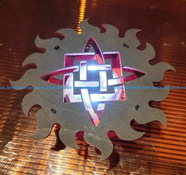 Star of Russia file cdr and dxf free vector download for Laser cut