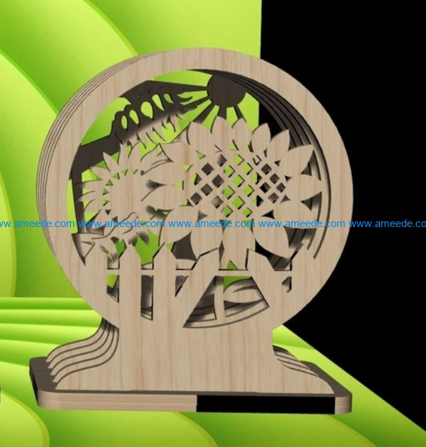 Summer tunnel file cdr and dxf free vector download for Laser cut
