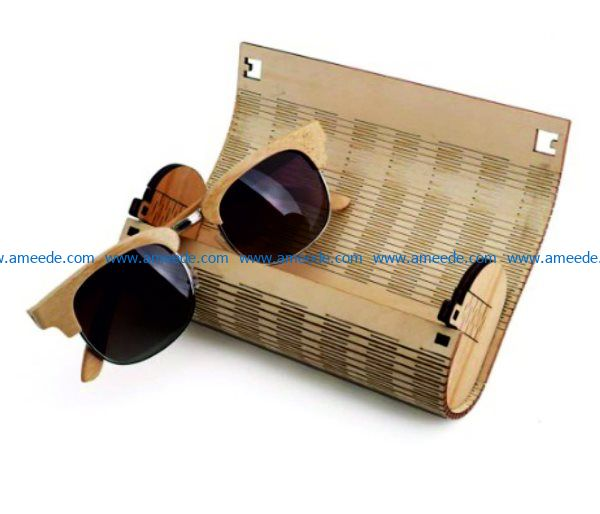 Sunglasses box file cdr and dxf free vector download for Laser cut
