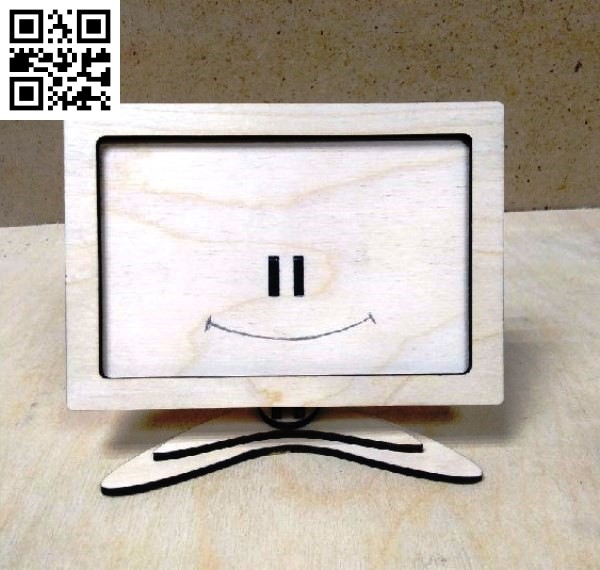 TV photo frame file cdr and dxf free vector download for Laser cut