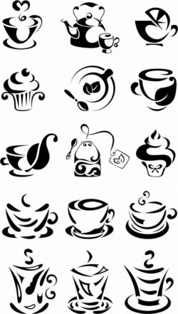 Tea cup file cdr and dxf free vector download for laser engraving machines