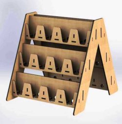 Three-story shelf file cdr and dxf free vector download for Laser cut