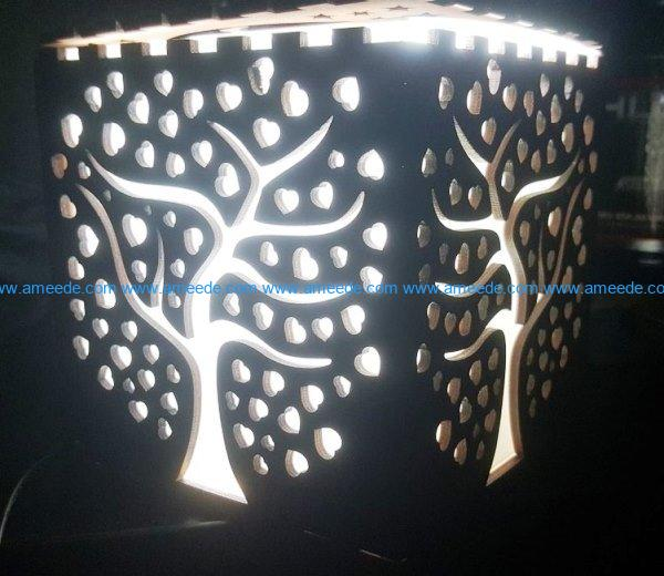 Tree night light file cdr and dxf free vector download for Laser cut