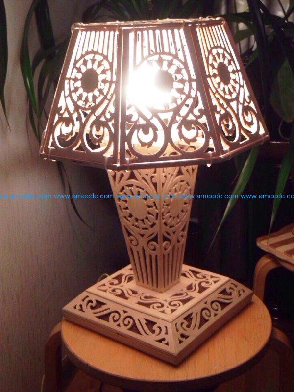 Unique lamp file cdr and dxf free vector download for Laser cut