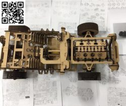 V8 car model file cdr and dxf free vector download for Laser cut