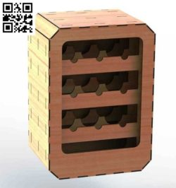 Wine Rack file cdr and dxf free vector download for Laser cut