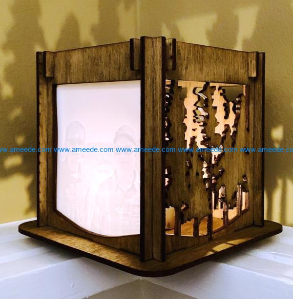Wooden lamp file cdr and dxf free vector download for Laser cut