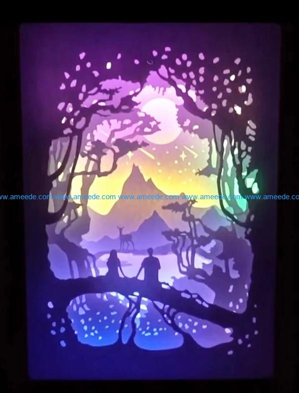 You and me light paintings file cdr and dxf free vector download for Laser cut