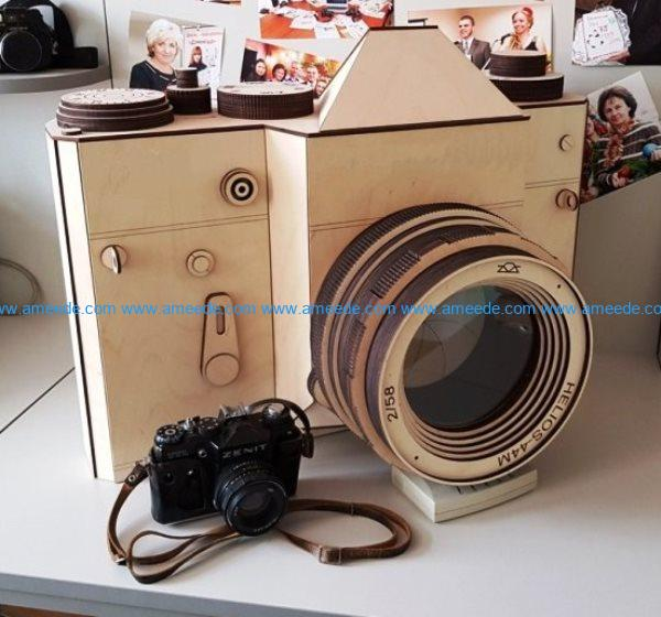 Zenit camera file cdr and dxf free vector download for Laser cut