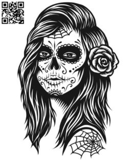 Zombie girl file cdr and dxf free vector download for laser engraving machines
