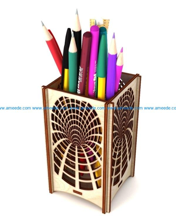 pen box file cdr and dxf free vector download for Laser cut
