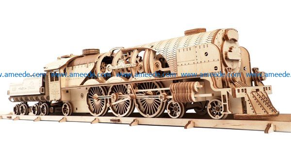 Steam Locomotive File Cdr Free Vector Download For Laser