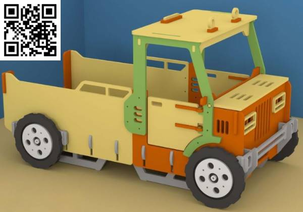 truck crib file cdr and dxf free vector download for Laser cut