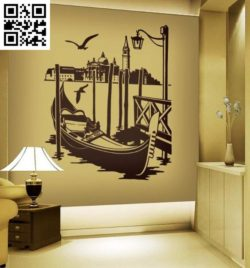 boat decorated living room file cdr and dxf free vector download for print or laser engraving machines