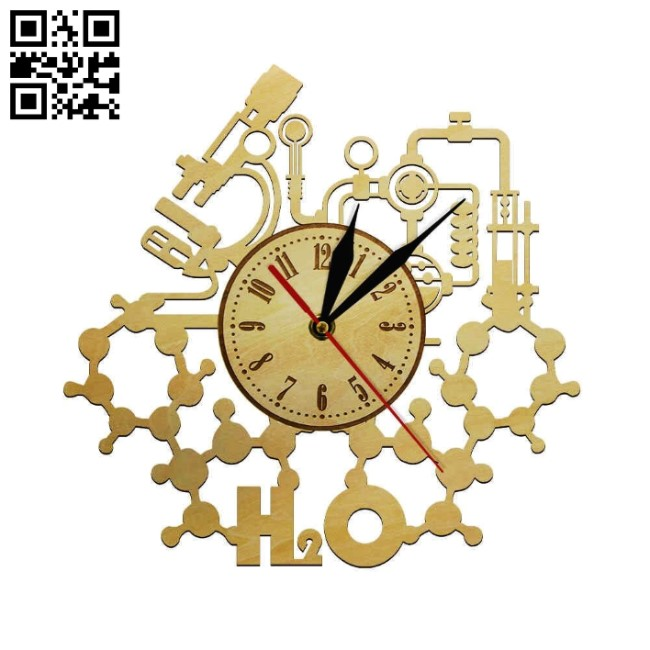 chemical clock file cdr and dxf free vector download for Laser cut