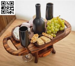 Wine table and fruit file cdr and dxf free vector download for Laser cut