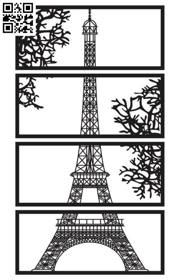 Design pattern screen panel E0010177 file cdr and dxf free vector download for Laser cut CNC