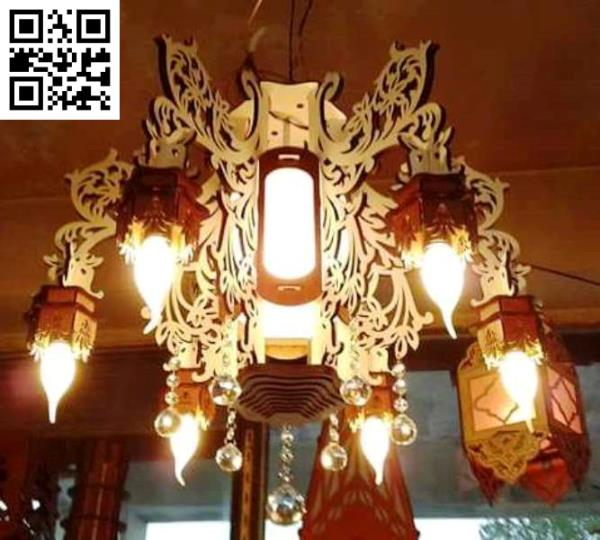 Wooden chandelier file cdr and dxf free vector download for Laser cut