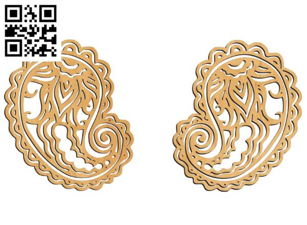 Hand drawn earrings file cdr and dxf free vector download for Laser cut