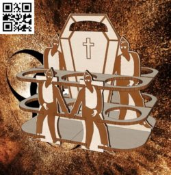 coffin dance bottle holder file cdr and dxf free vector download for Laser cut