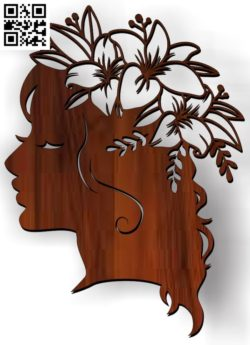 Girl with a wreath on the head file cdr and dxf free vector download for Laser cut