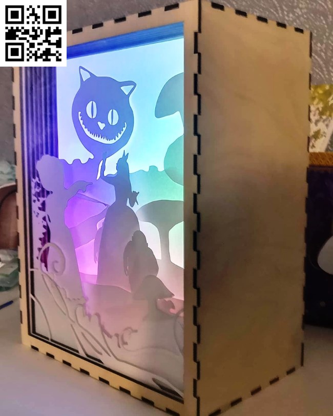 Alice Light box file cdr and dxf free vector download for Laser cut