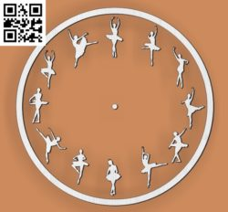 Ballet clock file cdr and dxf free vector download for Laser cut