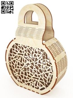 Beautiful wooden hand bag file cdr and dxf free vector download for Laser cut