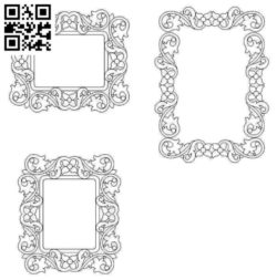 Beautifully decorated frame file cdr and dxf free vector download for laser engraving machines