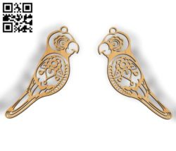Bird earrings file cdr and dxf free vector download for Laser cut