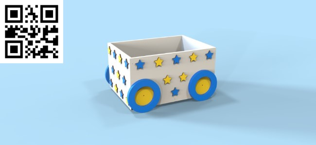 Box for toys file cdr and dxf free vector download for Laser cut