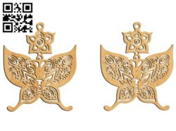 Butterfly earrings file cdr and dxf free vector download for Laser cut