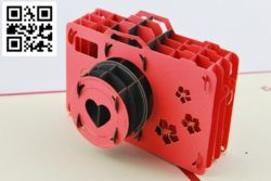 Camera Nikon file cdr and dxf free vector download for Laser cut