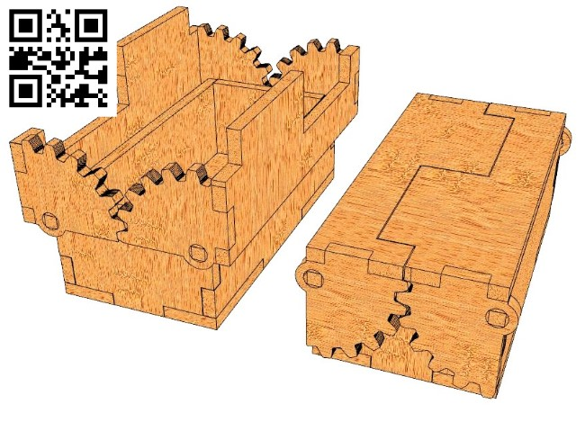 Cool box file cdr and dxf free vector download for Laser cut CNC