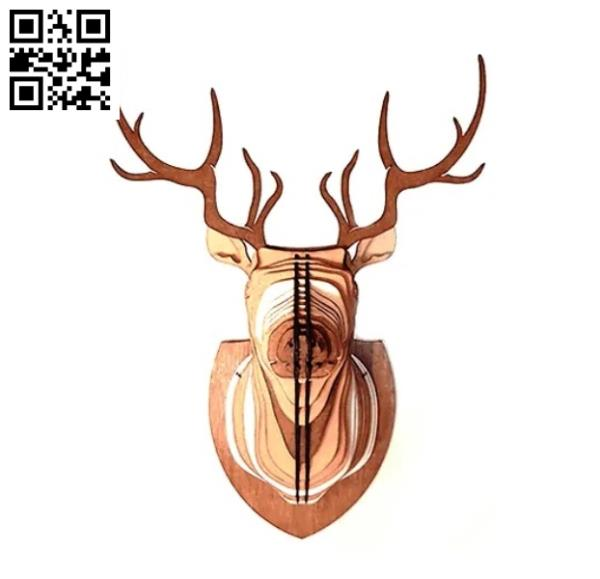 Deer head file cdr and dxf free vector download for Laser cut