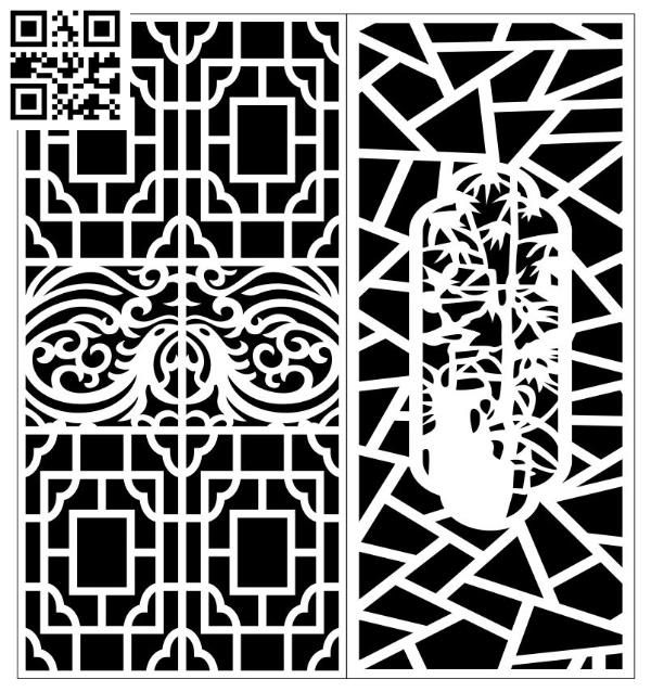 Design pattern screen panel E0010171 file cdr and dxf free vector download for Laser cut CNC