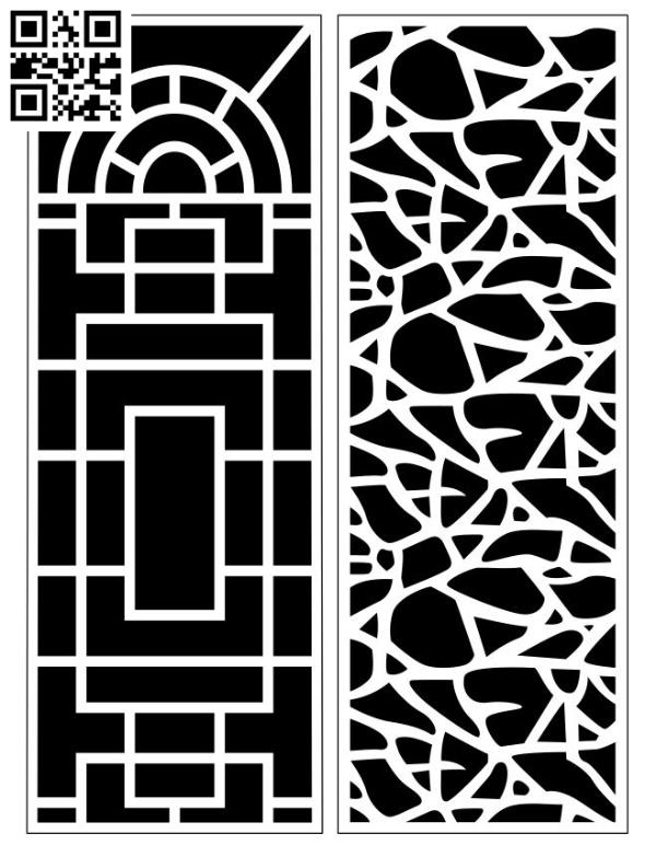 Design pattern screen panel E0010173 file cdr and dxf free vector download for Laser cut CNC