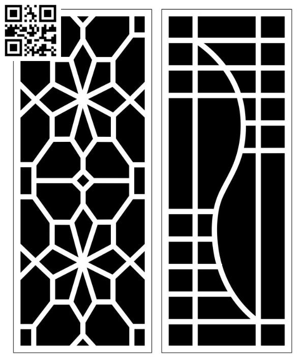 Design pattern screen panel E0010174 file cdr and dxf free vector download for Laser cut CNC
