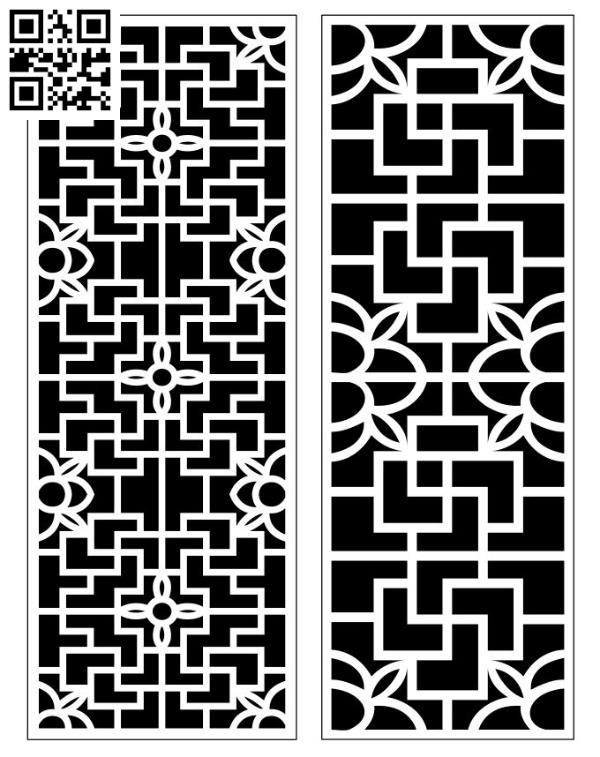 Design pattern screen panel E0010176 file cdr and dxf free vector download for Laser cut CNC