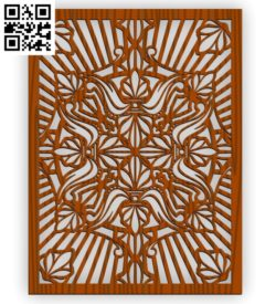 Design pattern screen panel E001017 file cdr and dxf free vector download for Laser cut CNC