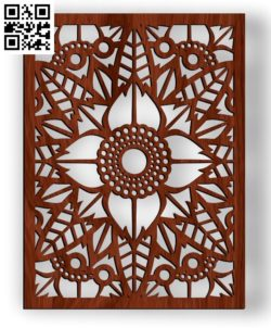 Design pattern screen panel E0010318 file cdr and dxf free vector download for Laser cut CNC