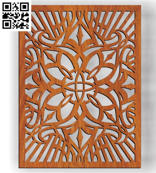 Design pattern screen panel E0010321 file cdr and dxf free vector download for Laser cut CNC