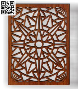 Design pattern screen panel E0010322 file cdr and dxf free vector download for Laser cut CNC