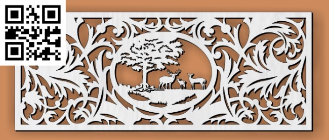 Design pattern screen panel E0010343 file cdr and dxf free vector download for Laser cut CNC