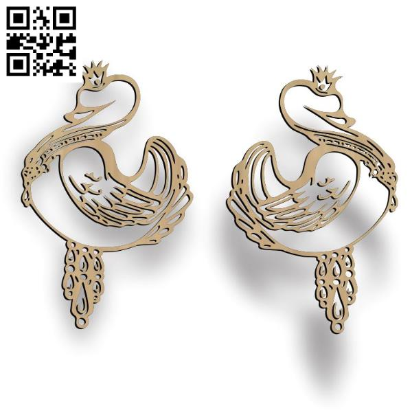 Duck earrings file cdr and dxf free vector download for Laser cut