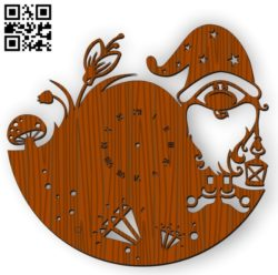 Dwarf clock file cdr and dxf free vector download for Laser cut