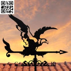 Eagle weather vane file cdr and dxf free vector download for Laser cut Plasma