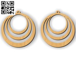 Earring E0010324 file cdr and dxf free vector download for Laser cut