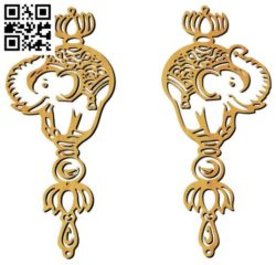 Elephant earrings file cdr and dxf free vector download for Laser cut